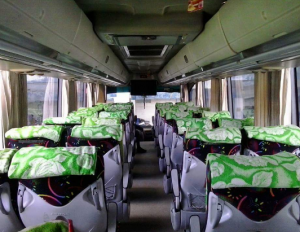 Interior Bus Maju Lancar terbaru