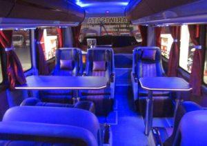 Interior mewah bus Pandawa