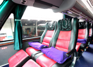 Interior Bus Lorena Jakarta-Semarang