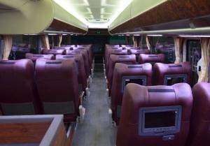 Interior terbaru bus Jakarta-Jogja