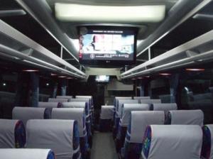 Interior Bus Safari Dharma Raya