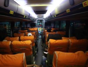 Interior Bus Sugeng Rahayu
