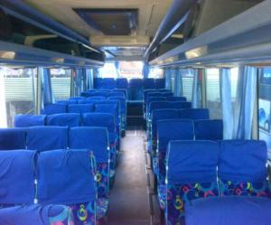Interior bus Jogja-Semarang