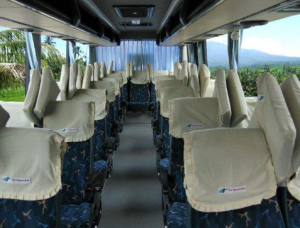 Interior bus Kramat Djati Semarang – Jakarta