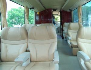 Interiro mewah bus Sumber Alam